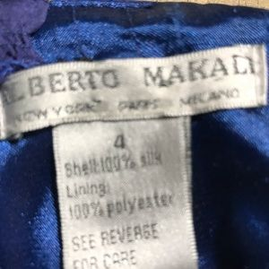 Alberto Macali silk cocktail dress size 4